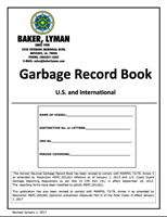 Picture of Baker Lyman Garbage Log Book