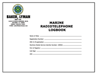 Picture of Baker Lyman Marine Radiotelephone Logbook