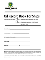 Picture of Baker Lyman Oil Record Book for Ships