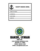 Picture of Baker Lyman Night Order Book