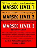 Picture of Set of MTSA-MARSEC level 1, 2 & 3 signs OUTDOOR