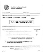 Picture of Oil Record Book  - Marshall Islands