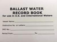 Picture of Baker Lyman Ballast Water Record Book
