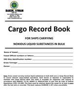 Picture of Baker Lyman Cargo Record Book