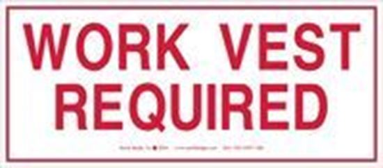 Picture of Work Vest Required