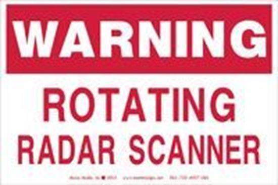 Picture of Warning: Rotating Radar Scanner