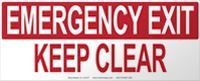 Picture of Emergency Exit - Keep Clear