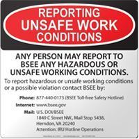 Picture of BSEE: Reporting Unsafe Work Conditions