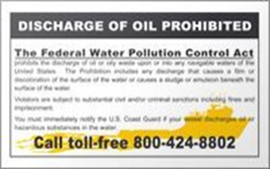 Picture of USCG Discharge of Oil Prohibited