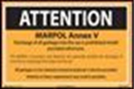 Picture of MARPOL Annex V - Passenger Placard