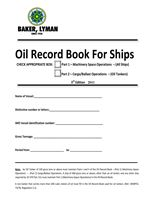 Picture of Oil Record Book for Ships