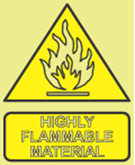 Picture of Highly flammable material