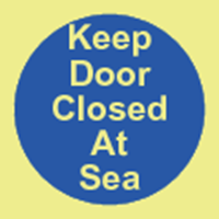 Picture of Keep door closed at sea