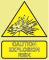 Picture of Caution explosion risk