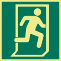 Picture of Exit man running right