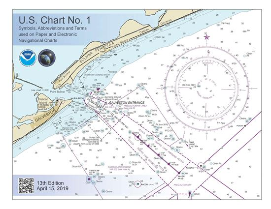 Picture of U.S. Chart No. 1: Symbols, Abbreviations and Terms used on Paper and Electronic Navigational Charts, 12th edition