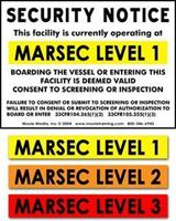 Picture of MARSEC LEVEL SECURITY NOTICE COMBO SIGN