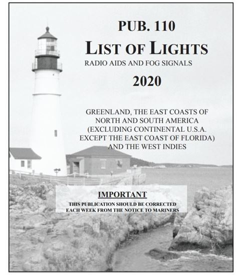 Picture of List of Lights Pub. 110: Radio Aids and Fog Signals