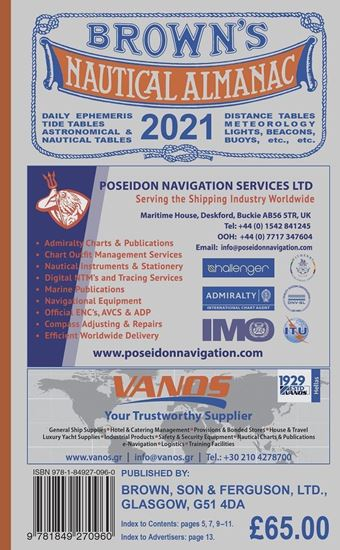 Picture of Brown's Nautical Almanac 2021 - Electronic Version